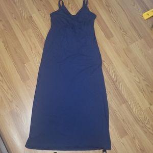 Womens M Old Navy Maternity Maxi tieback dress